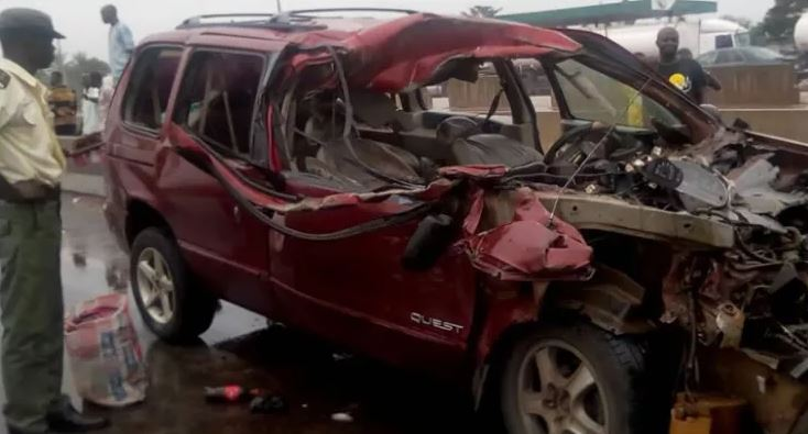 Accident vehicle Sagamu auto crash