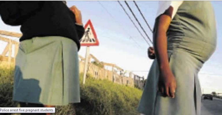 Police arrest five pregnant students