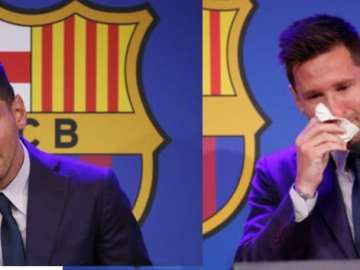 Messi crying