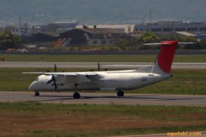 JAL Bombardier DHC8-Q400(松山→福岡)