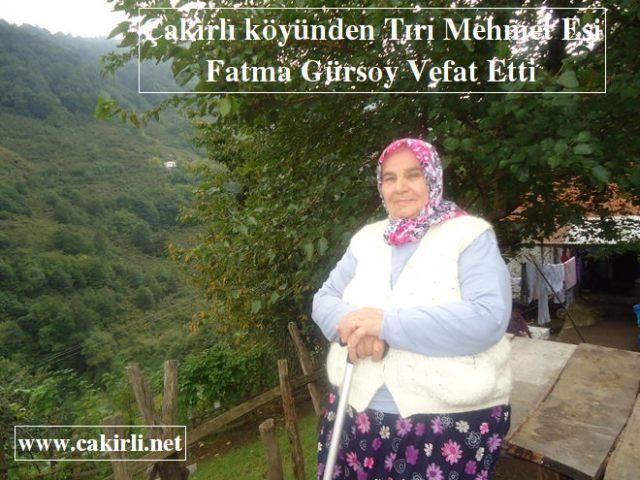 Fatma Gürsoy Vefat Etti