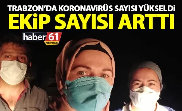 Trabzon'da Filyasyon Ekipleri Gece Gündür Çalışıyor