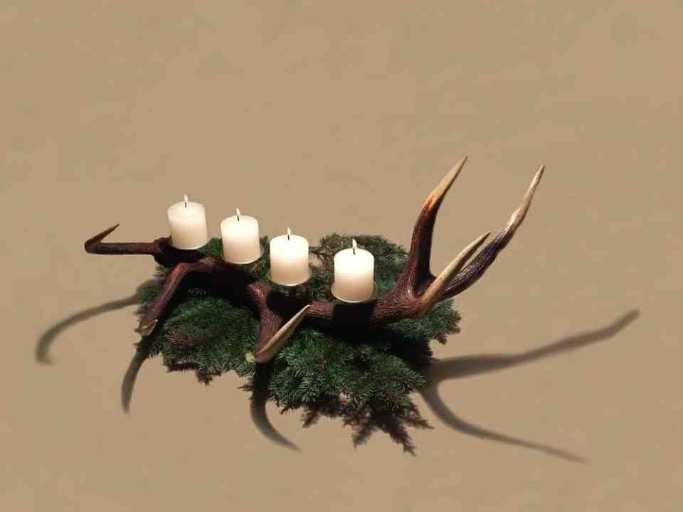 Geweih Deko, Hirschgeweih Deko, Kerzenhalter Geweih, Geweih Kerzenhalter, Geschenke für die Jägerin, OH MY DEER, Johannes Forkl,