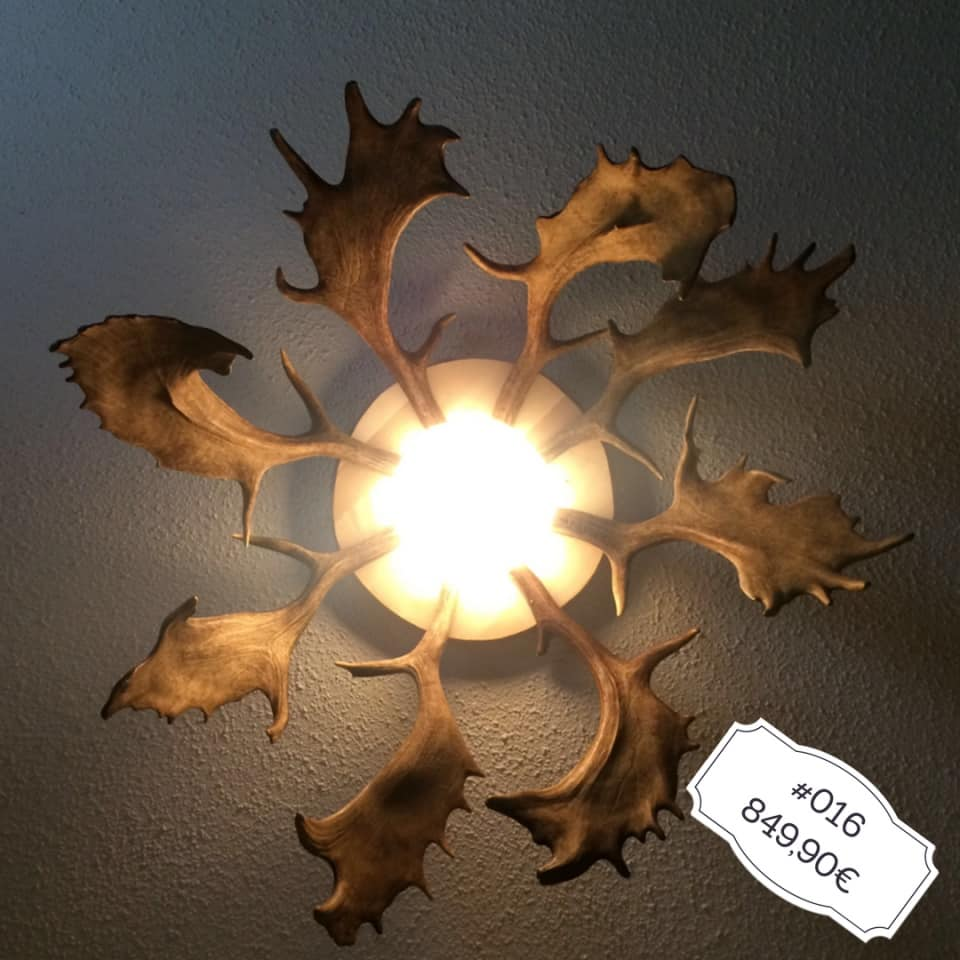 Hirschgeweih Lampe Sonnenform