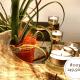 Hirschgeweih Deko Kerzenhalter mit vier Teelichtern
