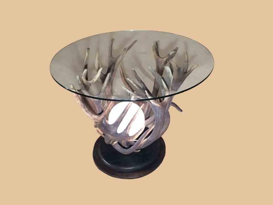 Glas Couchtisch, couchtisch mit licht, oh my deer, johannes forkl