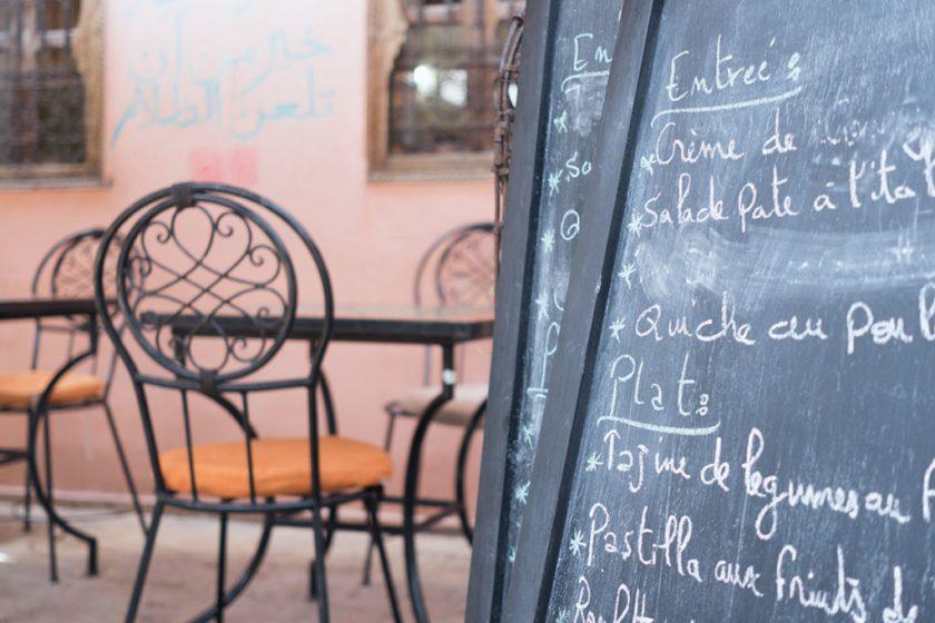 Wochenende in Bildern. Marrakesch. Café Amal.