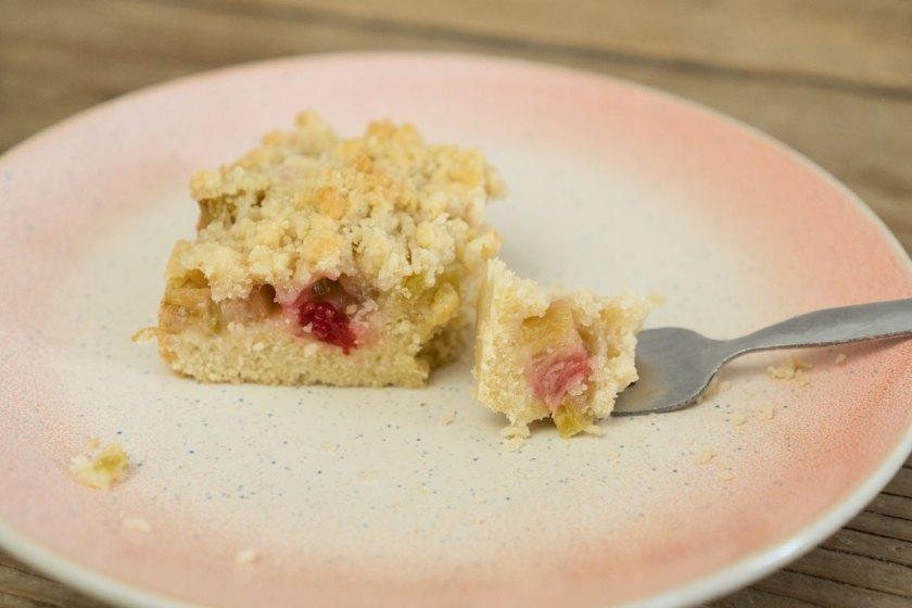 Rezept: Rhabarberkuchen mit Streusel