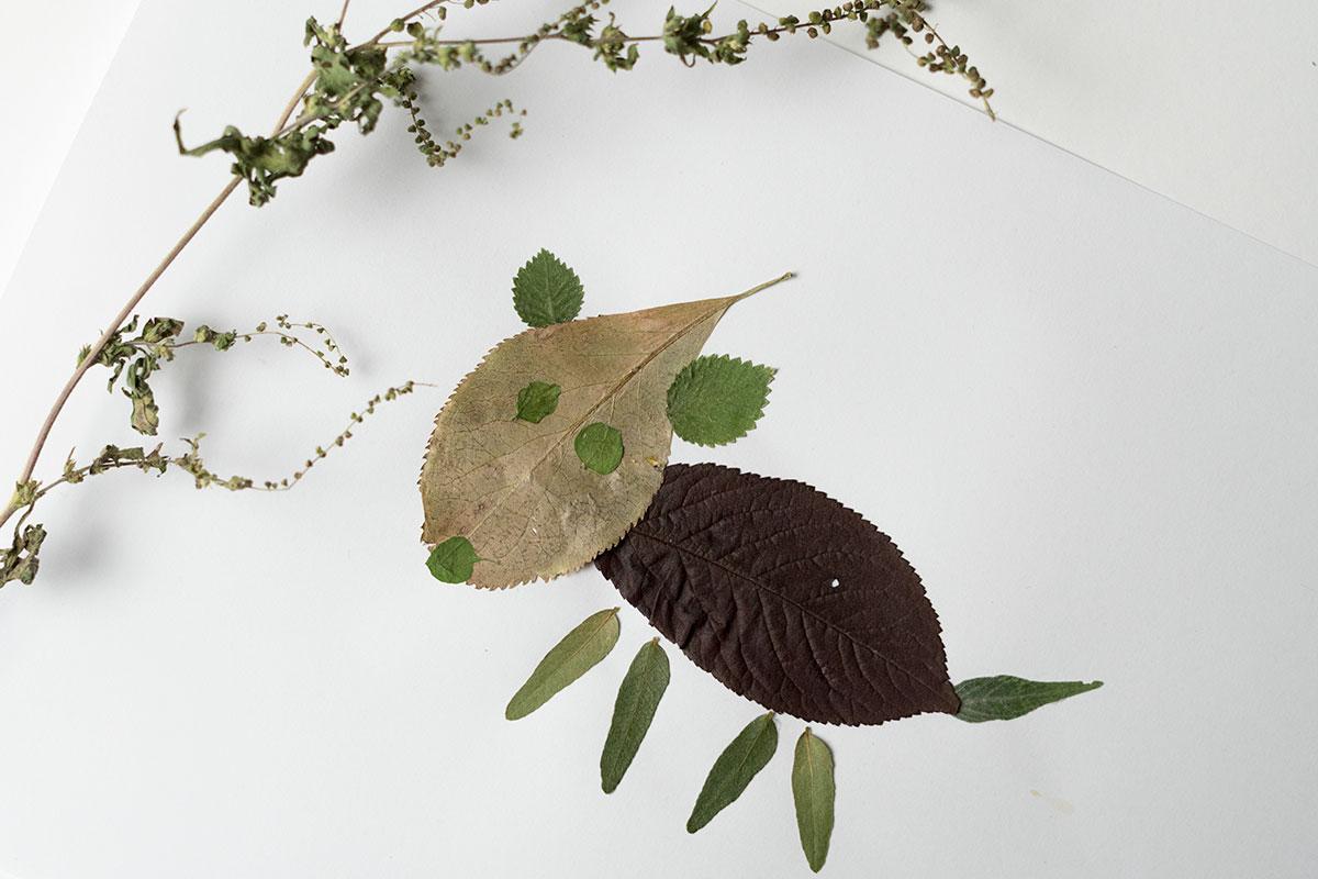 DIY: Tiere aus Blättern