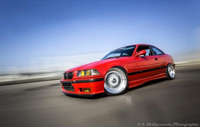 Red BMW E36 M3
