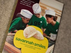 box of savannah smiles girl scout cookies