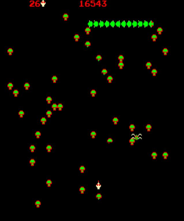 Centipede gameplay screenshot