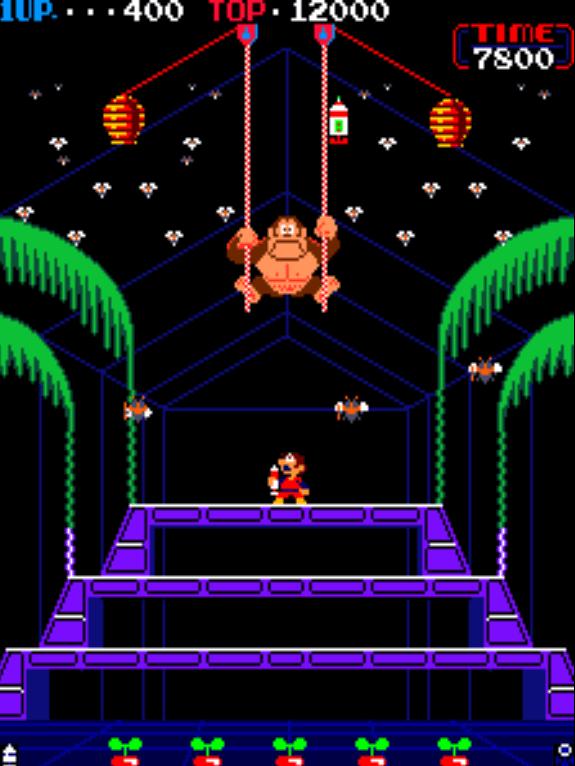 Donkey Kong 3 gameplay screenshot