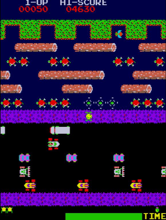 Frogger gameplay screenshot