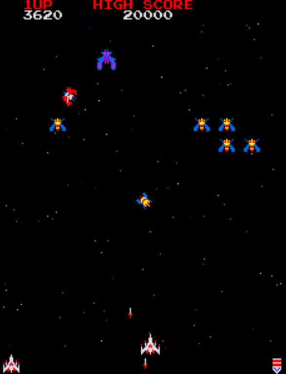 Galaga gameplay screenshot