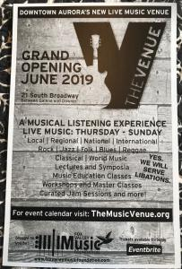 The Venue promotional poster. Text: Grand Opening June 2019