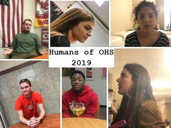 Various faces from the Humans of OHS project