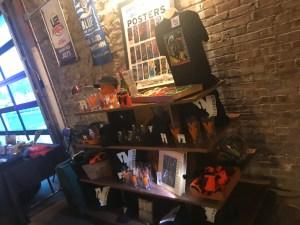 Venue merchandise table