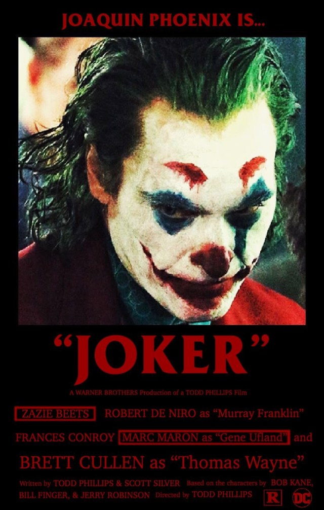 """Joker"" movie poster featuring Joaquin Phoenix as ""Joker"""