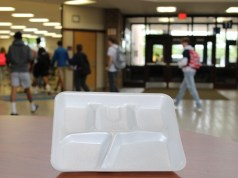 styrofoam lunch tray