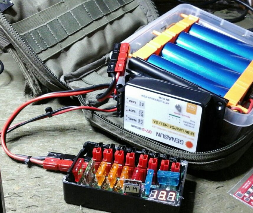 DIY Portable LiFePO4 battery power for ham radio
