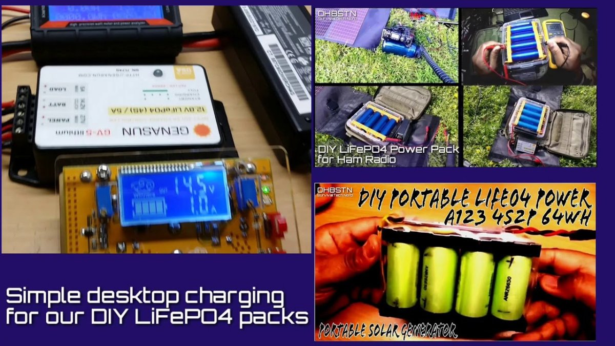 Easy Desktop Charging A123 4S2P LiFePO4