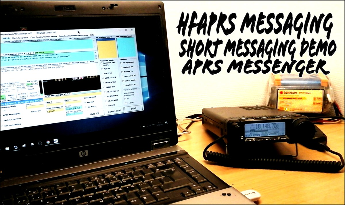 HFAPRS RX & Respond to Message using APRS Messenger