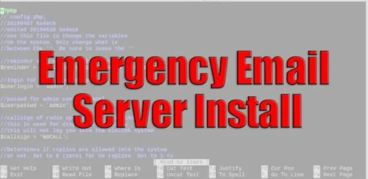 WinLink Emergency Email Server for Raspberry Pi
