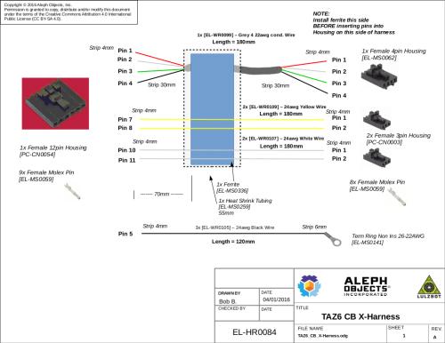 small resolution of taz6 cb x harness