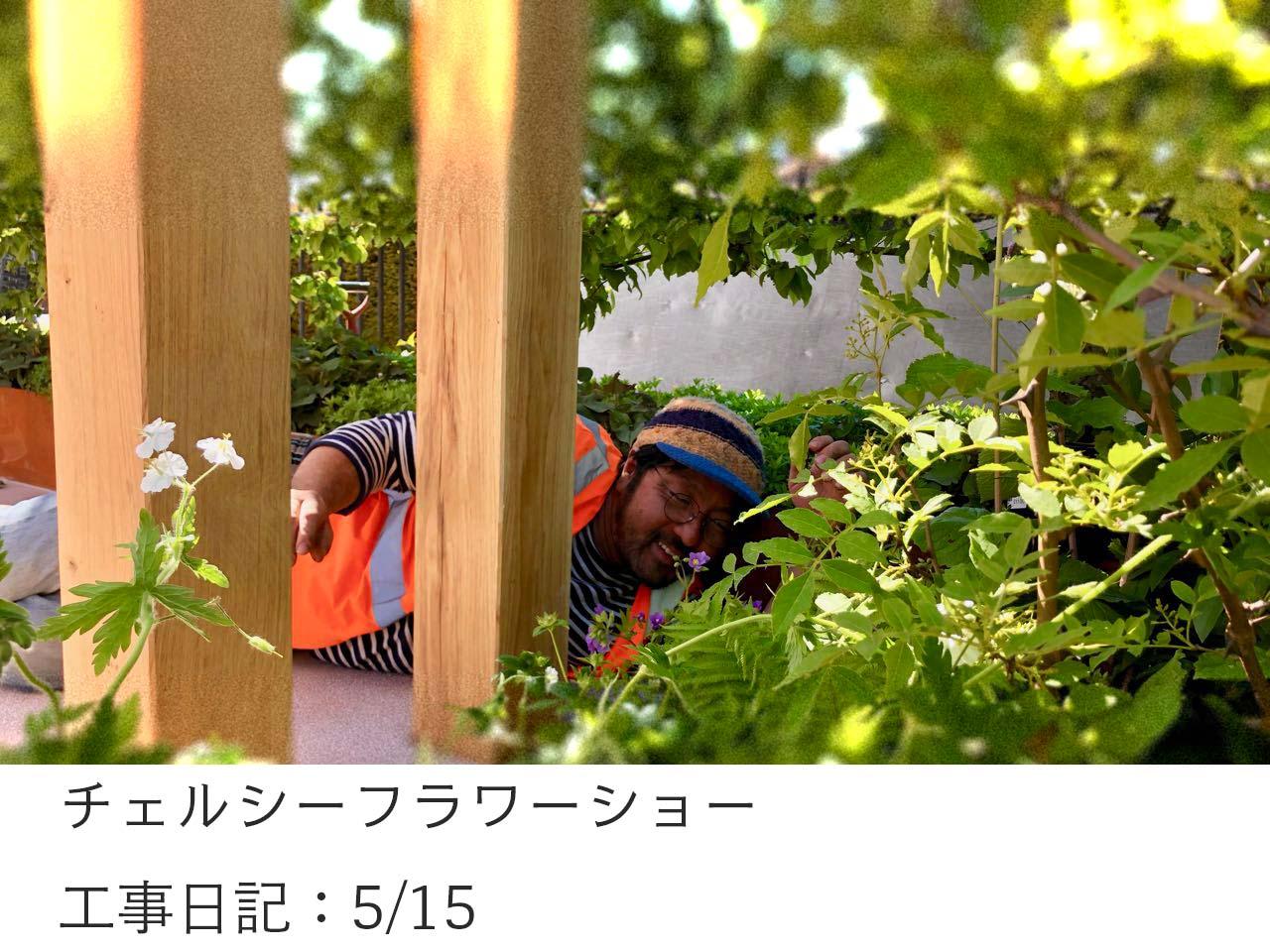 チェルシーフラワーショー工事11日目(5/16)の回想