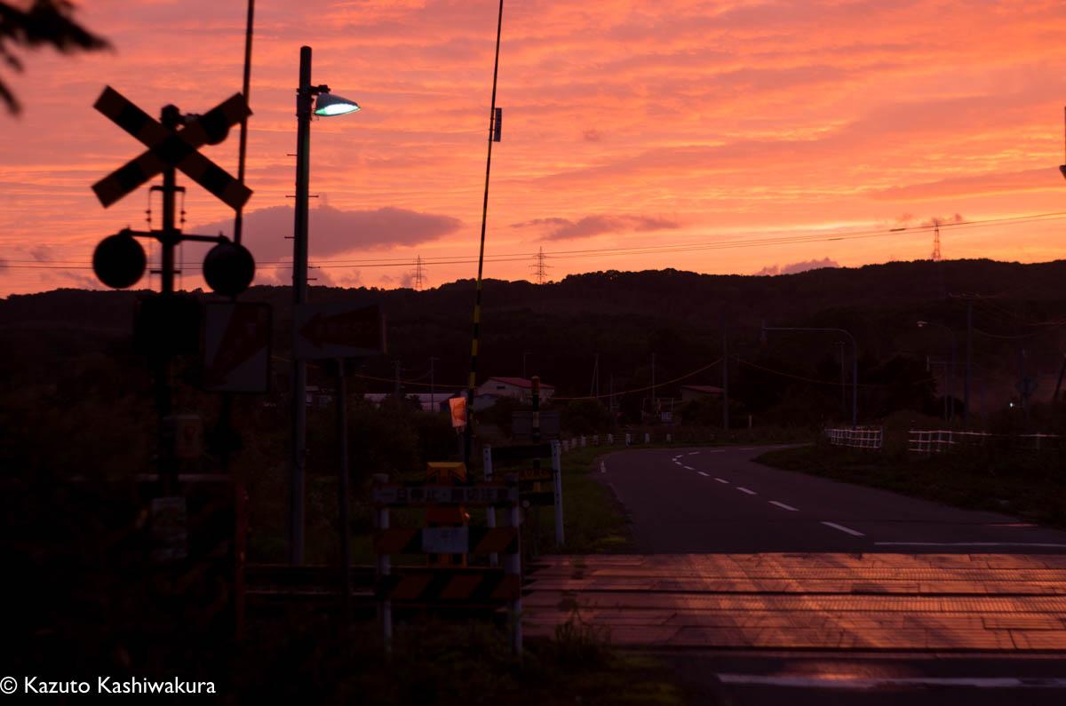 安平町の夕日が綺麗でしたー土地によって光の艶、透明感が違います