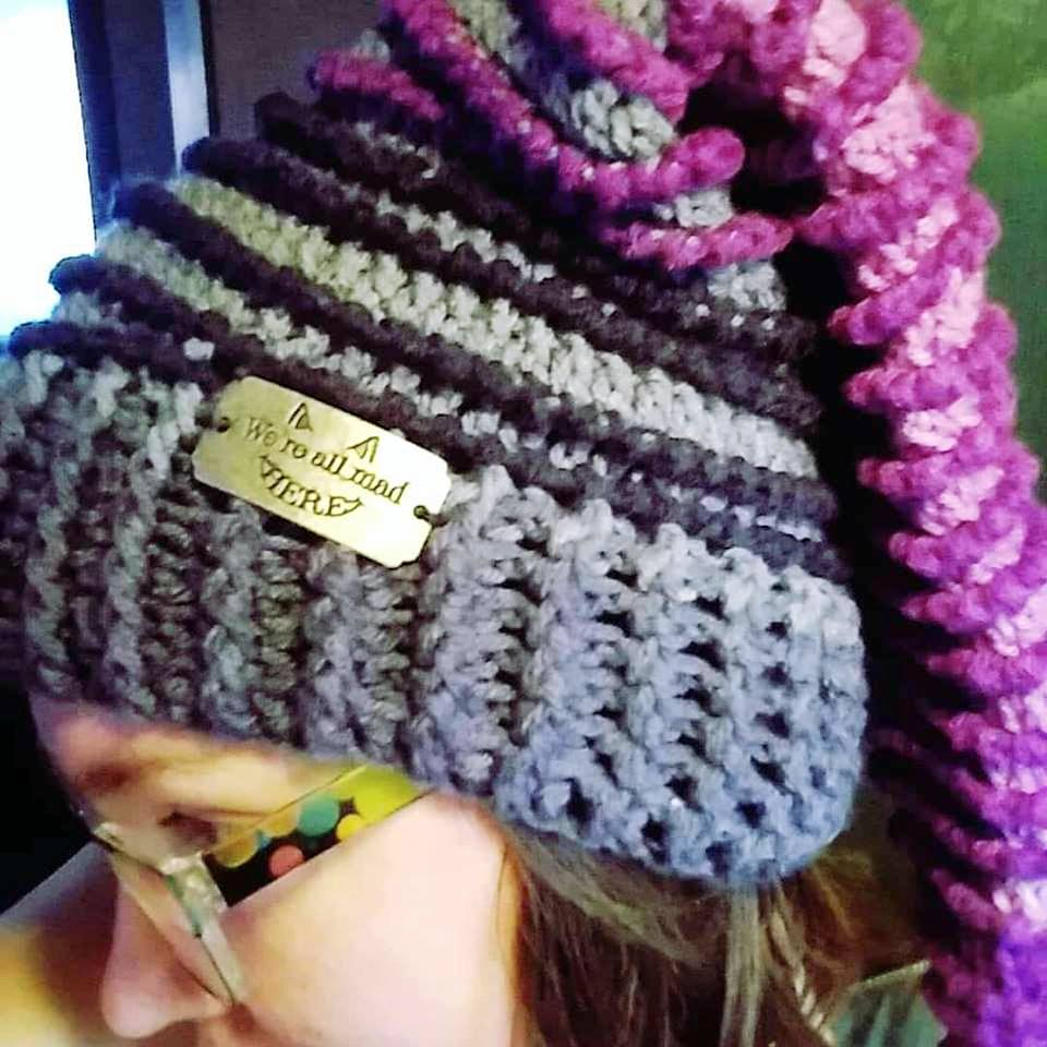 The Cheshire Cat Spiral Stocking Cap
