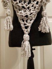 tassels on ʻōpua triangle scarf free pattern by 'Ohana Boutique
