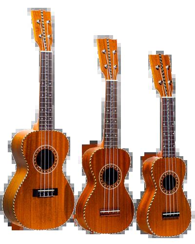 Ohana 28 series ukuleles