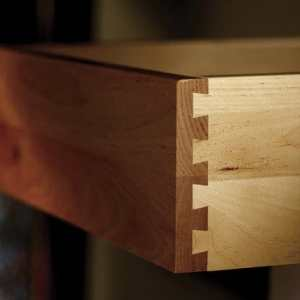 wood cabinet dovetail