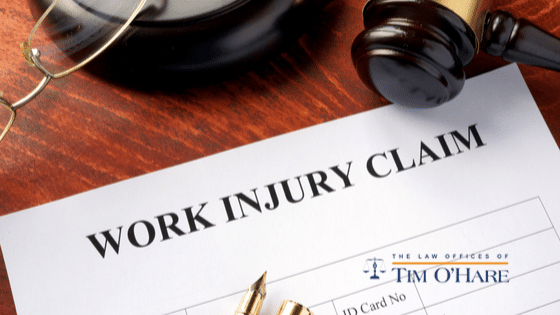 what to do when you get hurt at work facts to protect your rights 2 - Work injury claim paperwork with gavel