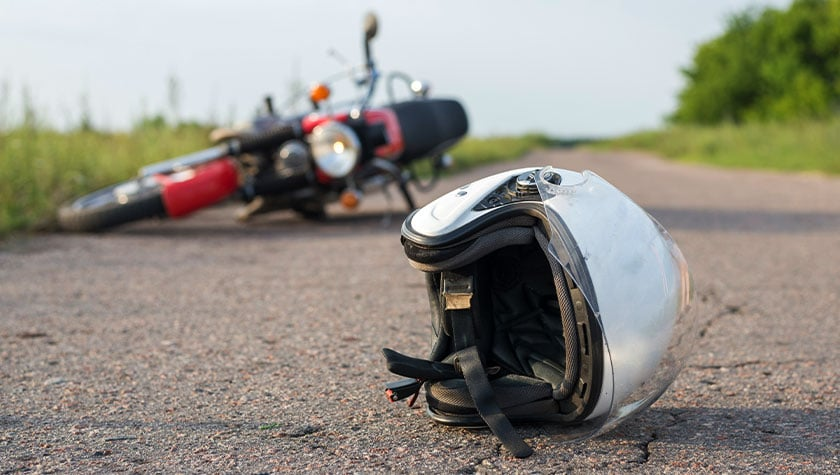 How do the risks of motorcycle wrecks compare to other vehicle accidents?