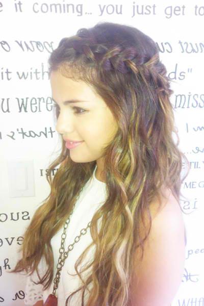 selena gomez halo hair braid