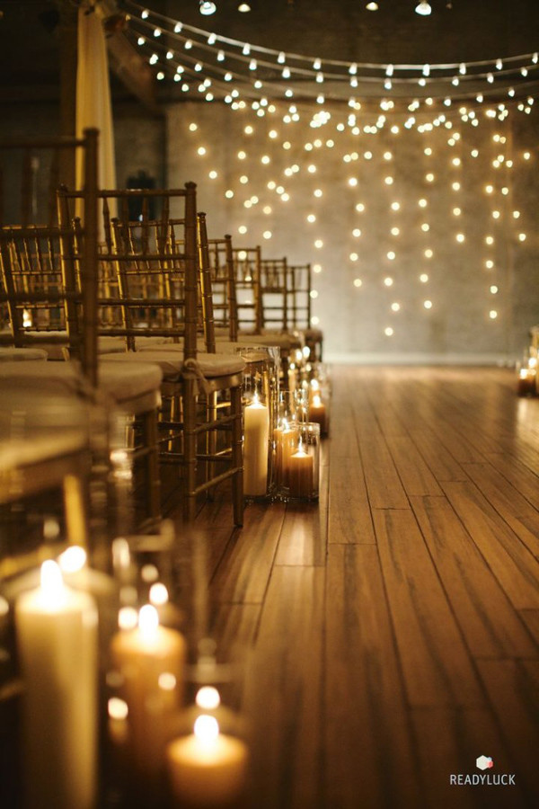 20 Romantic Wedding Ideas with Candles  Oh Best Day Ever