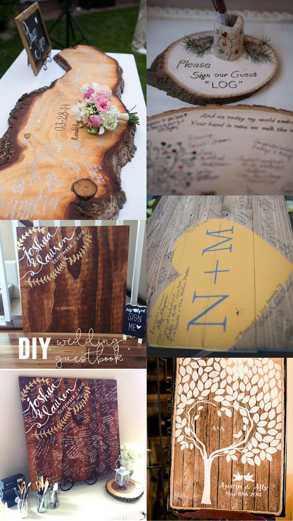 23 Unique Wedding Guest Book Ideas for Your Big Day  Oh Best Day Ever