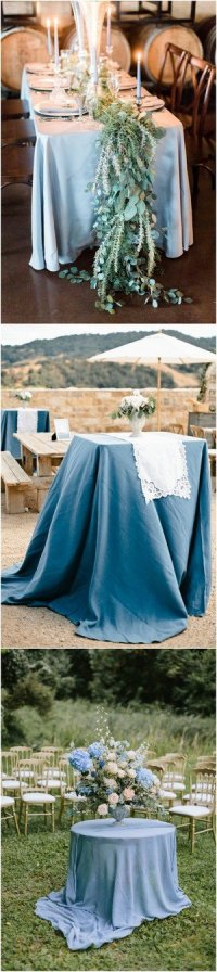 24 Brilliant Dusty Blue Wedding Color Ideas - Oh Best Day Ever