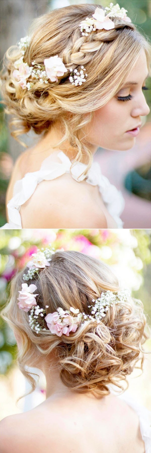 18 Trending Wedding Hairstyles with Flowers  Oh Best Day Ever