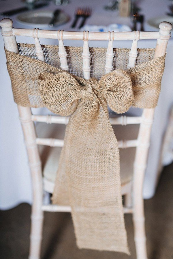 burlap bows for wedding chairs retro cafe table and 28 awesome chair decoration ideas ceremony reception - page 2 of 3 oh best day ...