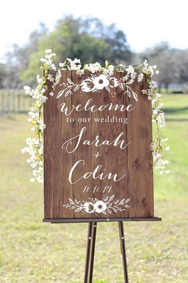 20 Brilliant Wedding Welcome Sign Ideas for Ceremony and Reception  Page 2 of 3  Oh Best Day Ever