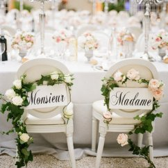 Wedding Bride And Groom Chairs Booster For Kids Elegant Chair Decoration Ideas Oh Best Day