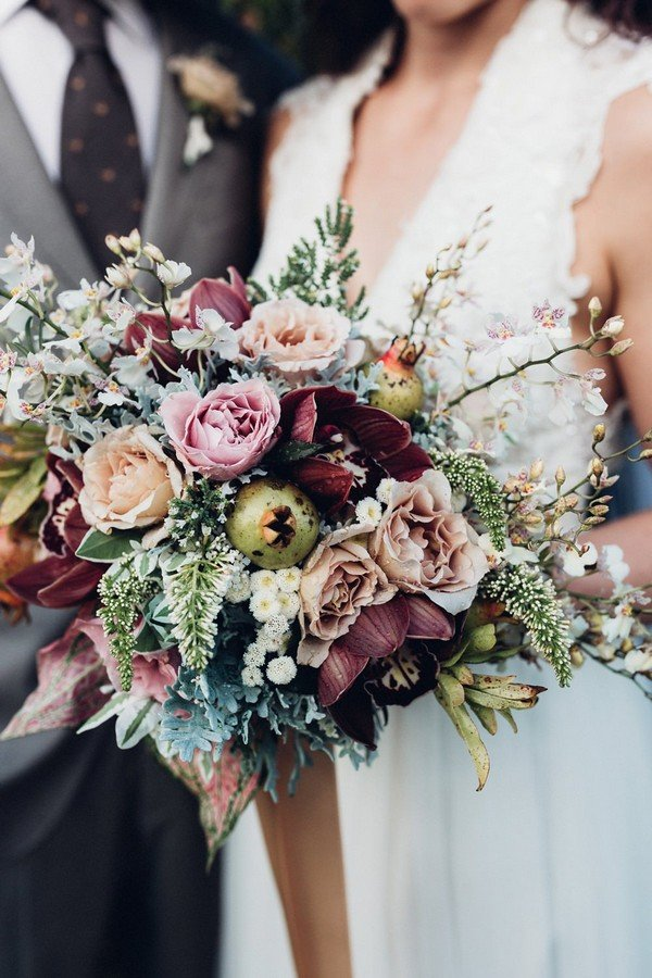 Trending 15 Gorgeous Burgundy And Blush Wedding Bouquet