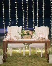 15 Romantic Wedding Sweetheart Table Decoration Ideas ...