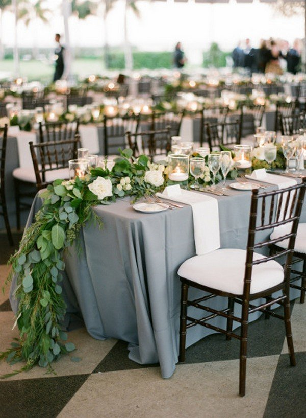 Trending21 Elegant Green and Grey Wedding Color Ideas for