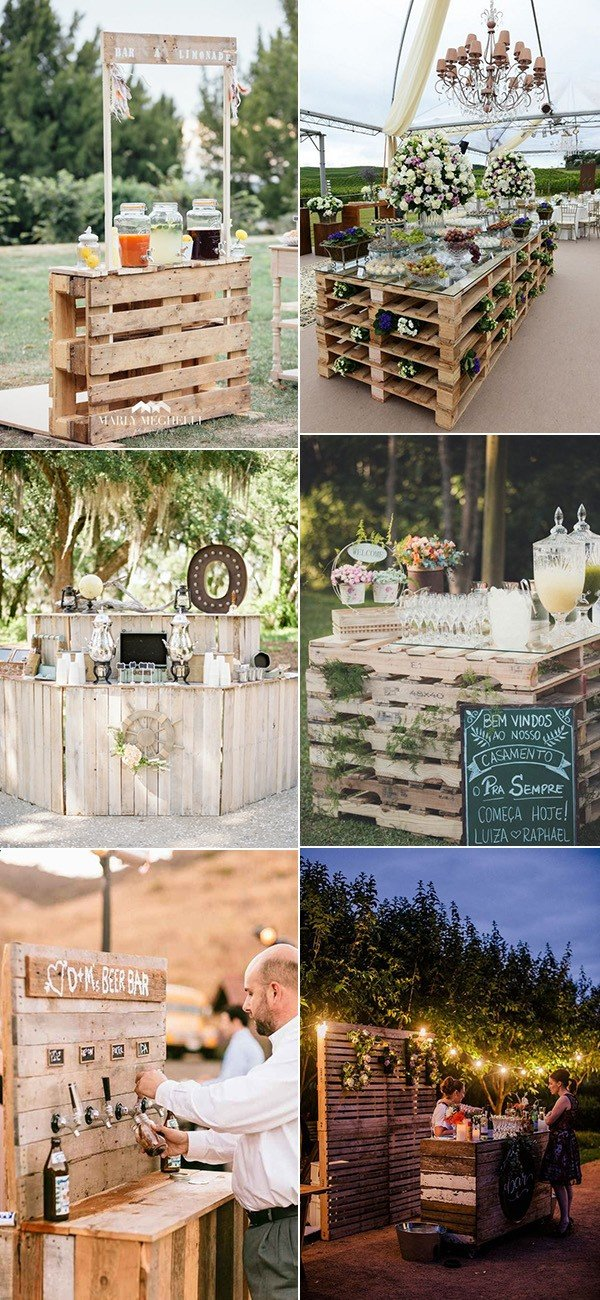 24 Ideas to Use Wood Pallet for Your Country Wedding  Oh Best Day Ever