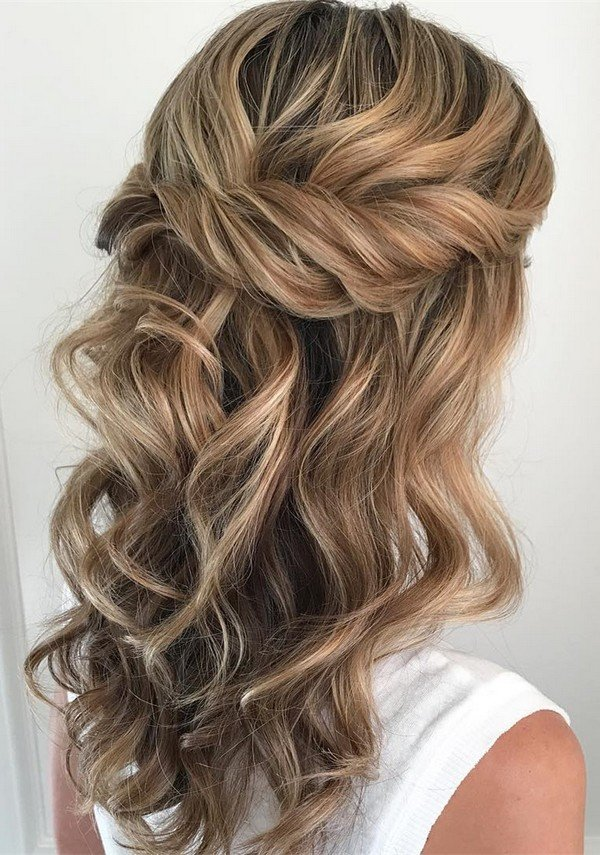 10 Glamorous Half up Half down Wedding Hairstyles from Hair and Makeup Girl  Oh Best Day Ever